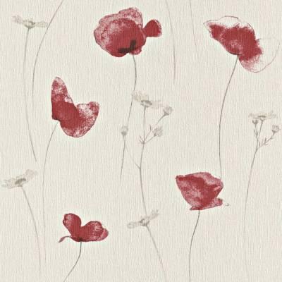 Rasch Amélie | 573732 | Vliestapete Blumentapete | 0.53 m x 10.05 m | Beige