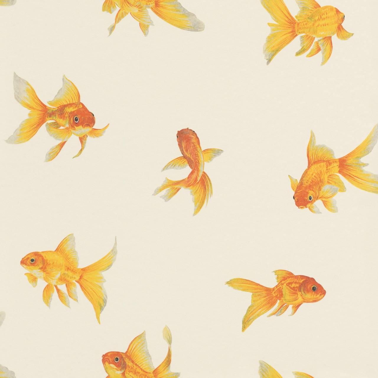 Tapete mit Goldfischen