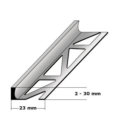 """Fliesenabschlussprofil """"Renesse"""" Trennschiene Fliesenabschluss, H 2 - 30 mm, B 23 mm, Alu"""