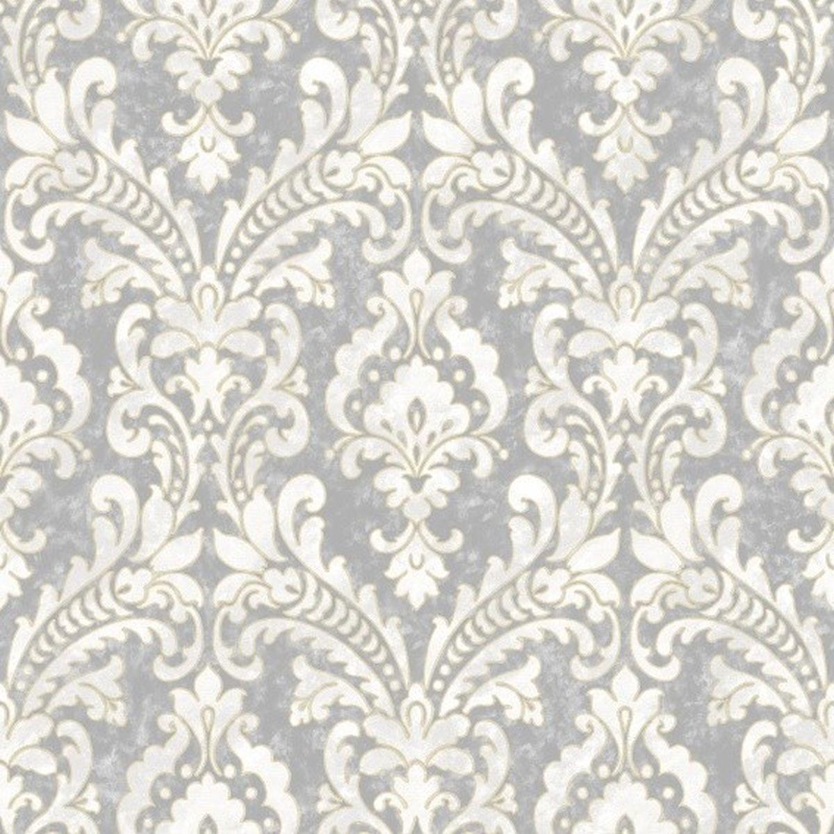 DesignID Vliestapete Erstklassige Wandbekleidung VD219172 Grau Barock Tapete