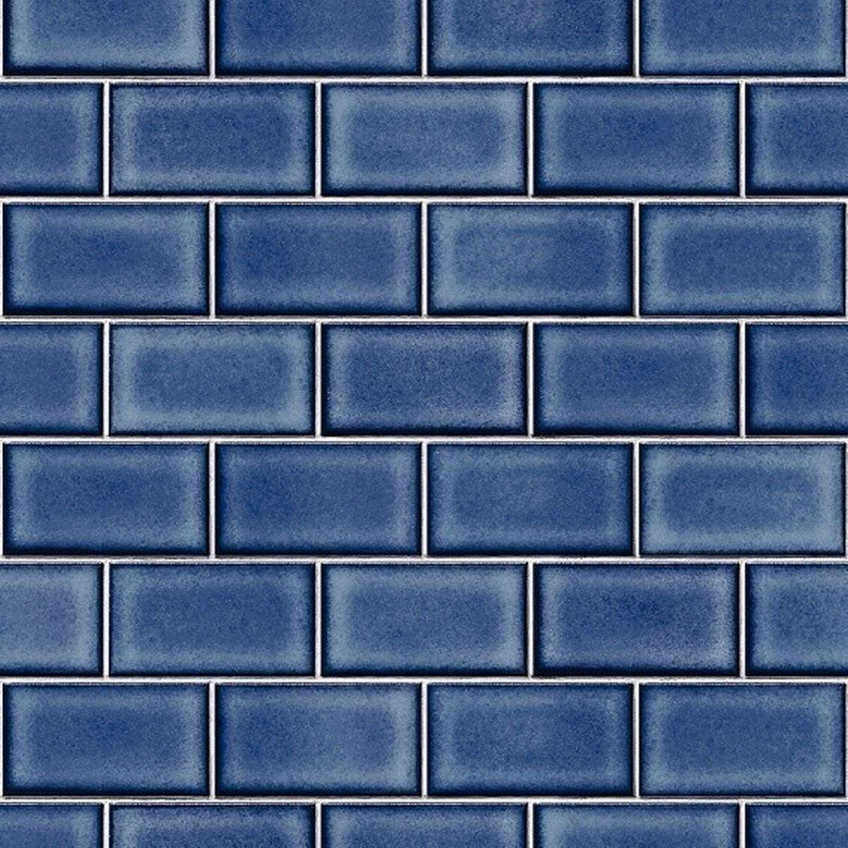 DesignID Vliestapete Qualitätsvolle Tapete BA220107 Blau Steintapete