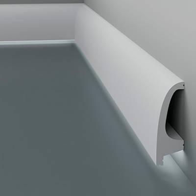 Licht - Sockelleiste / Fußleiste 6.53.701 Lines | aus hochfestem und wasserfestem Polystyrol