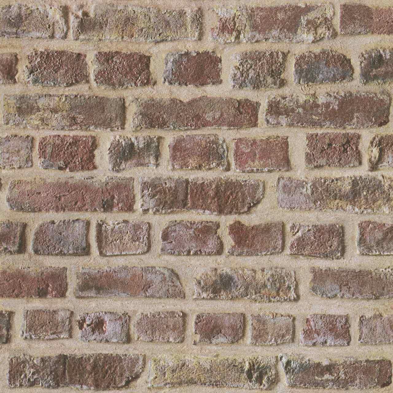 Steintapete 302191 Backsteinrot | Papiertapete | A.S. Creation Authentic Walls