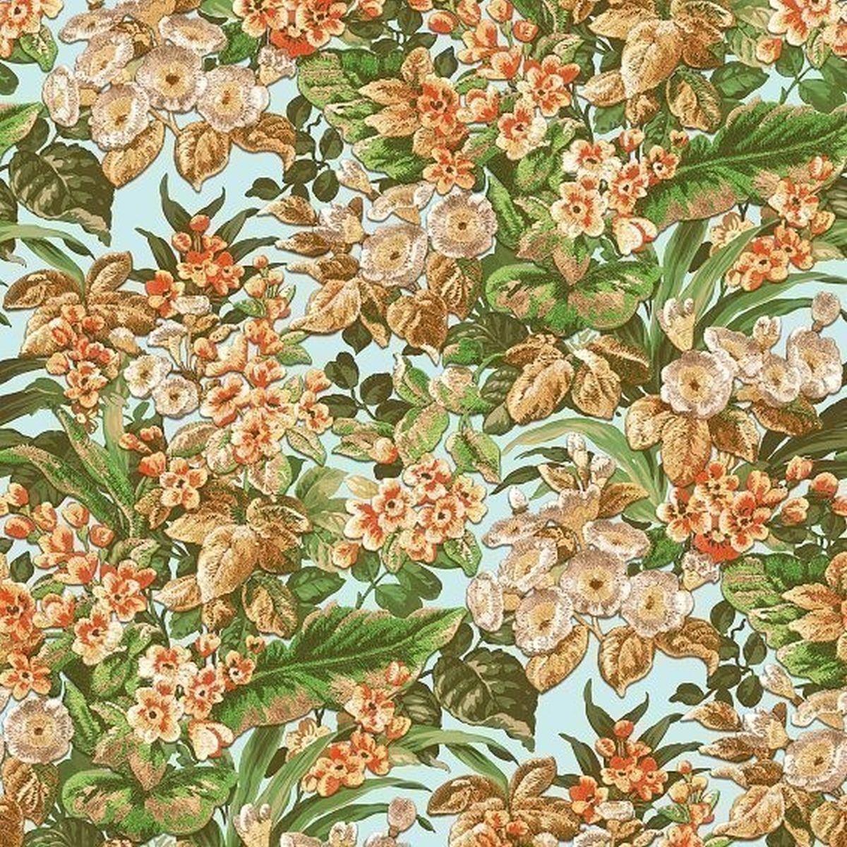 DesignID Vliestapete Erstklassige Vliestapete BA220022 Grün Blumentapete