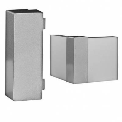 Klick Außenecke für Fußleisten / Sockelleisten 6 x 15 (Aluminium silber eloxiert)