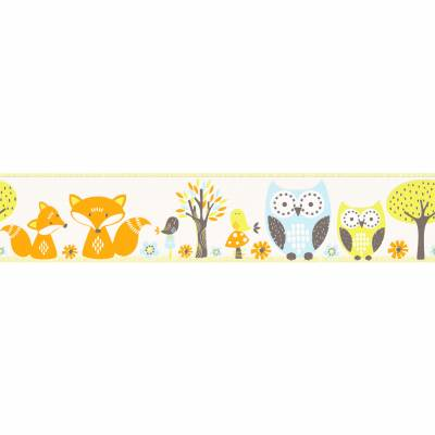 Erismann Papiertapete für Jungenzimmer 'Bunte Vögel'