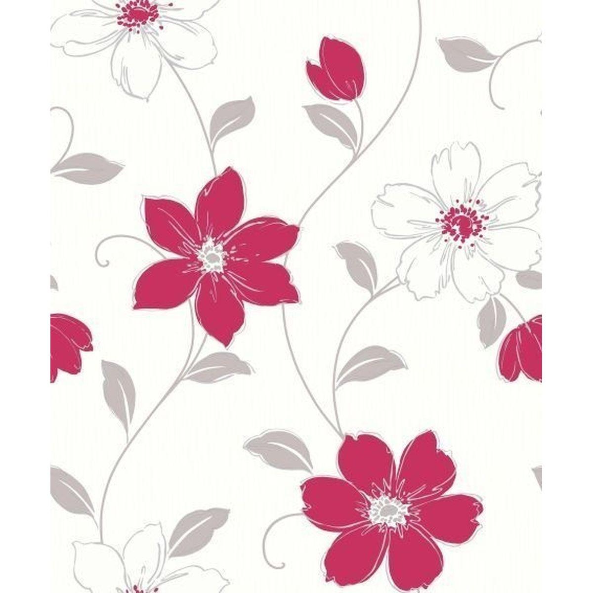 Best of Arthouse Vliestapete Prächtiges Design 871104 Rot Blumentapete