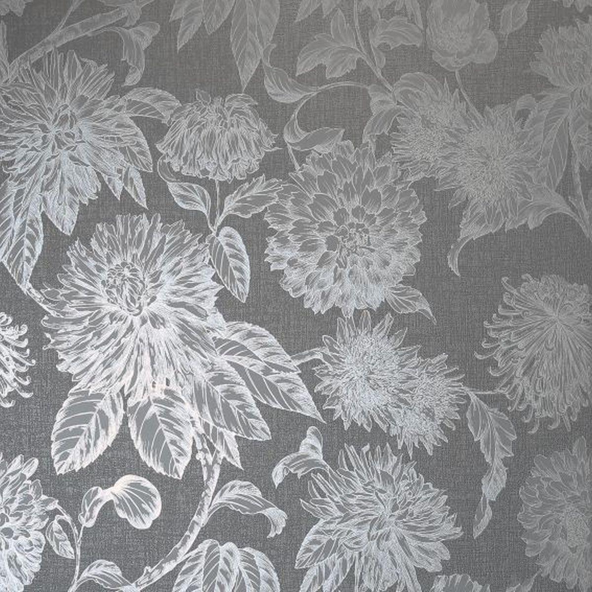 Best of Arthouse Vliestapete Edles Design 906600 Grau Blumentapete
