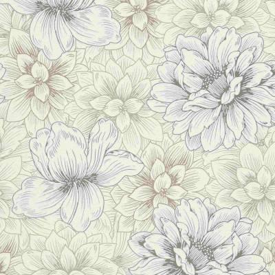 Erismann Summer Beat | 5425-02 | Vliestapete Blumentapete | 0.53 m x 10.05 m | Cremefarbend