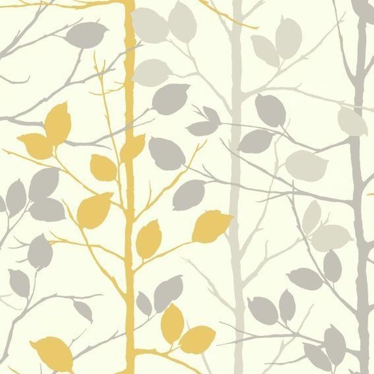 Best of Arthouse Vliestapete Prächtiges Design 630705 Gelb Blumentapete