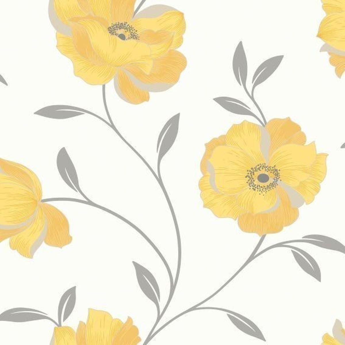 Best of Arthouse Vliestapete Ausgezeichnete Vliestapete 614709 Gelb Blumentapete
