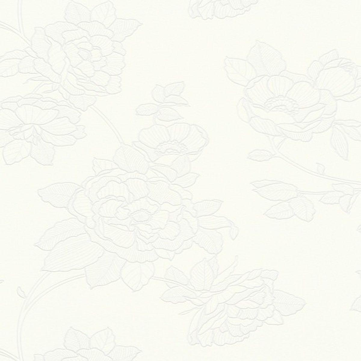 Erismann Vliestapete Kollektion Black & White 540301 Blumen
