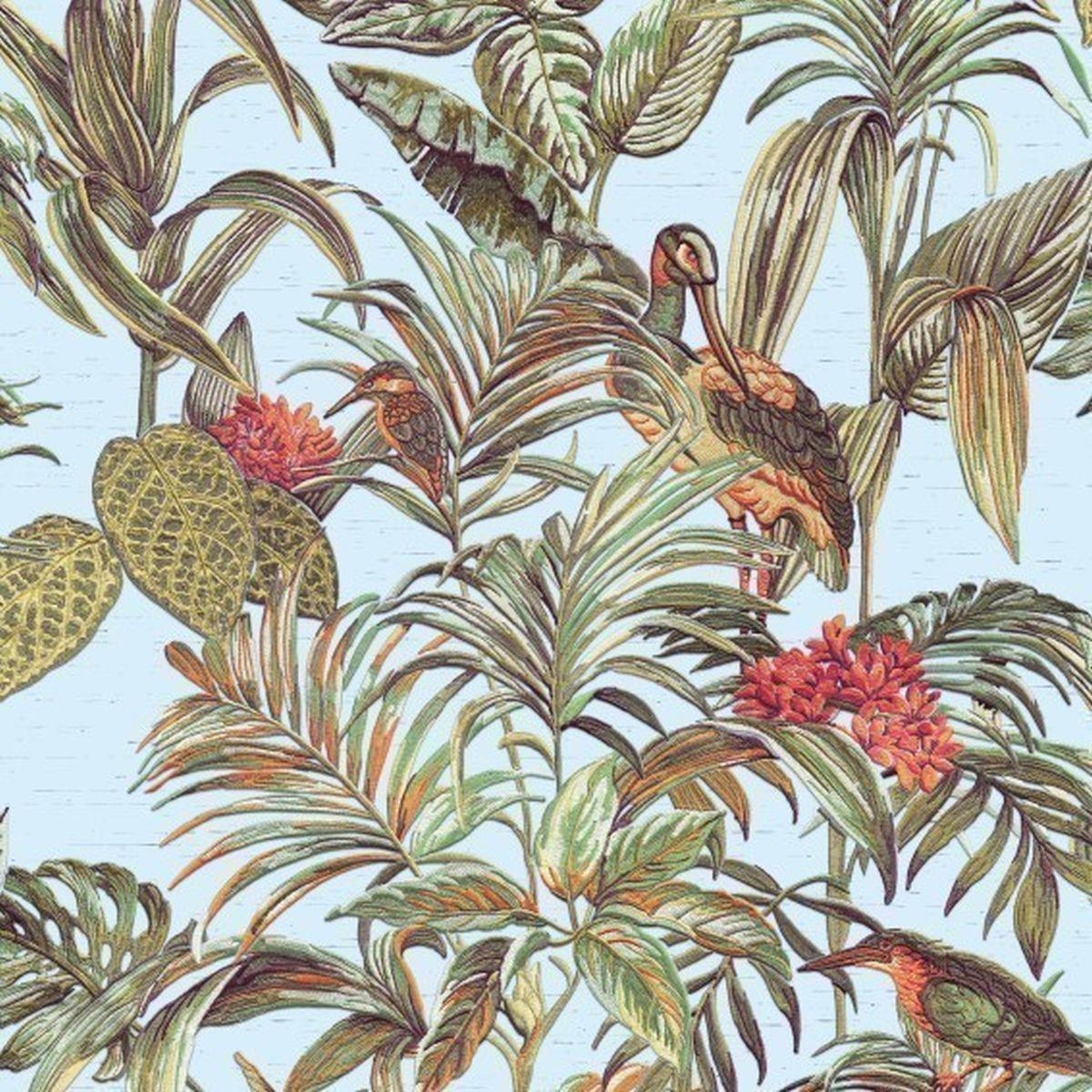 DesignID Vliestapete Luxuriöse Tapete DE120014 Grün Blumentapete