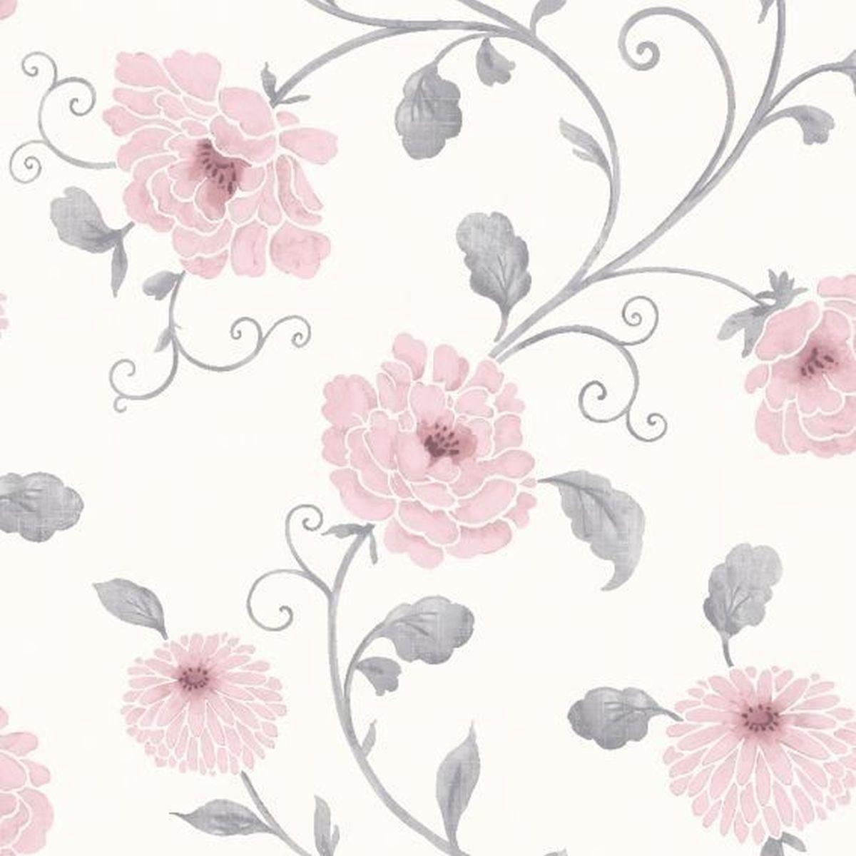 Best of Arthouse Vliestapete ansprechende Tapete 613407 Rosa Blumentapete