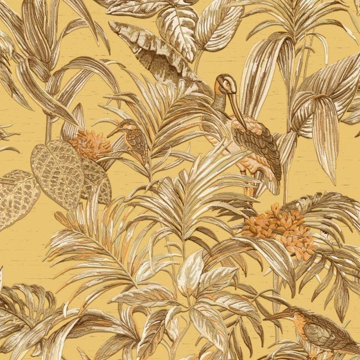 DesignID Vliestapete Qualitätsvolle Tapete DE120018 Gelb Blumentapete