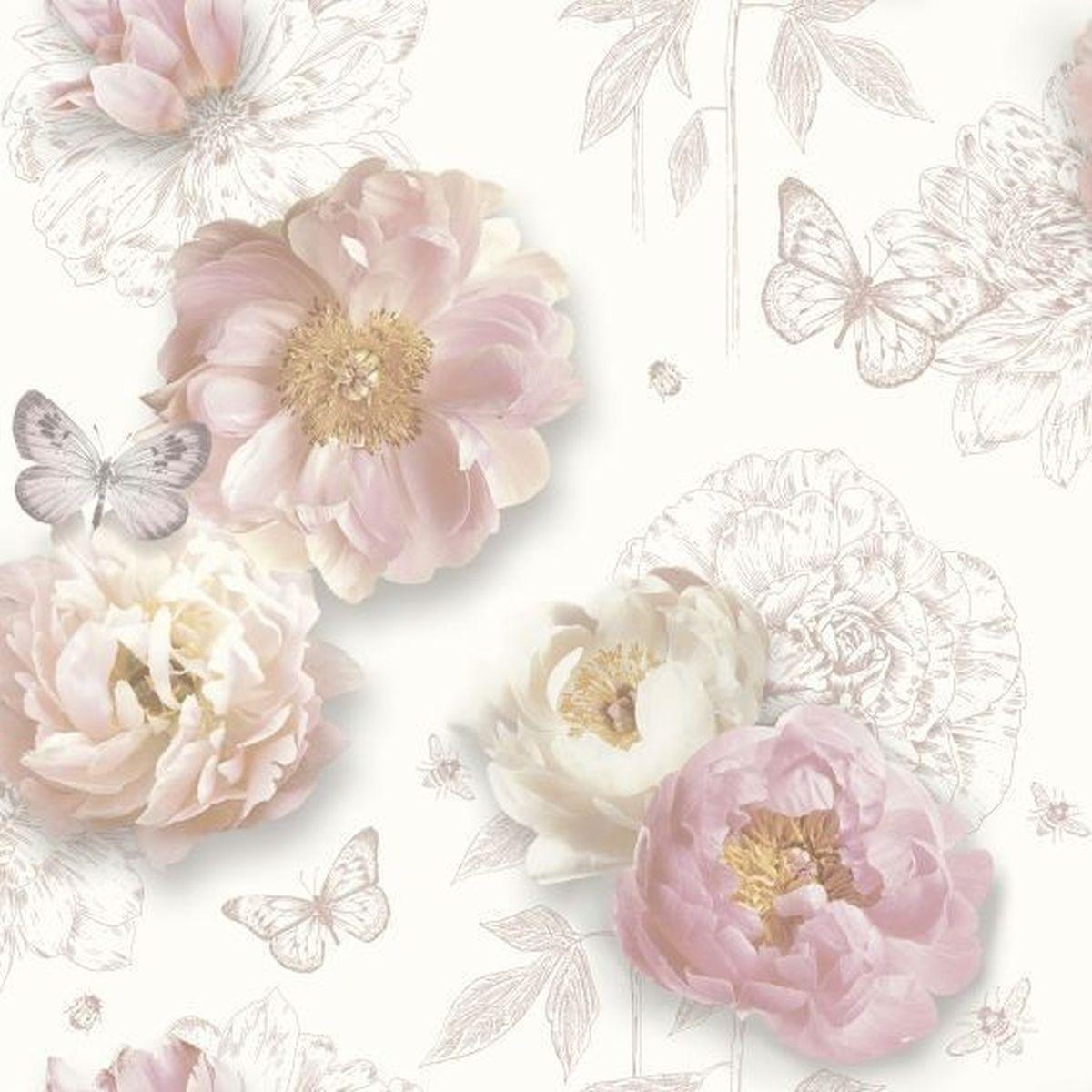 Best of Arthouse Vliestapete Erstklassige Tapete 259200 Rosa Blumentapete