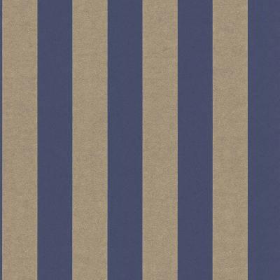 Rasch Textil Comtesse | 225463 | Vliestapete Streifen | 0.53 m x 10.05 m | Blau