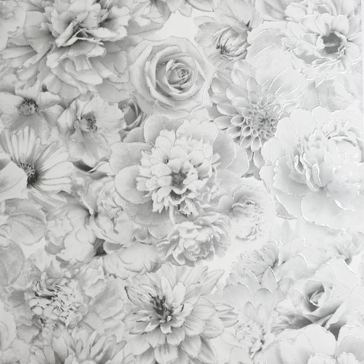Best of Arthouse Vliestapete Erstklassige Wandbekleidung 692803 Grau Blumentapete
