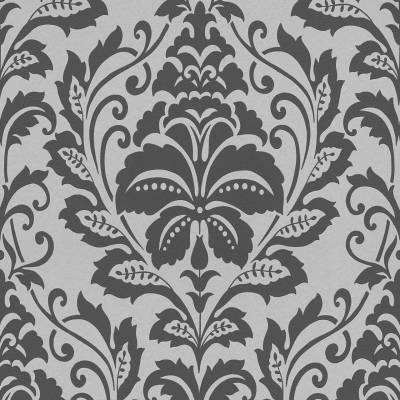 A.S. Creation BEAUTIFUL WALLS | 369102 | Vliestapete Barock Tapete | 0.53 m x 10.05 m | Silber