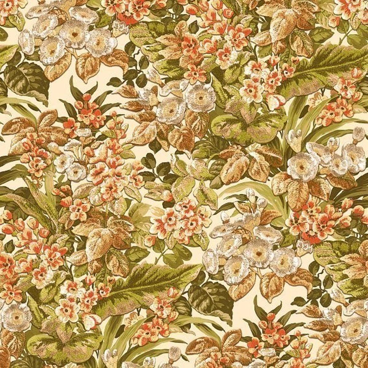 DesignID Vliestapete Qualitätsvolle Tapete BA220021 Grün Blumentapete