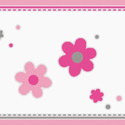 A.S. Création Bordüre mit Blumen und Käfern für Mädchenzimmer