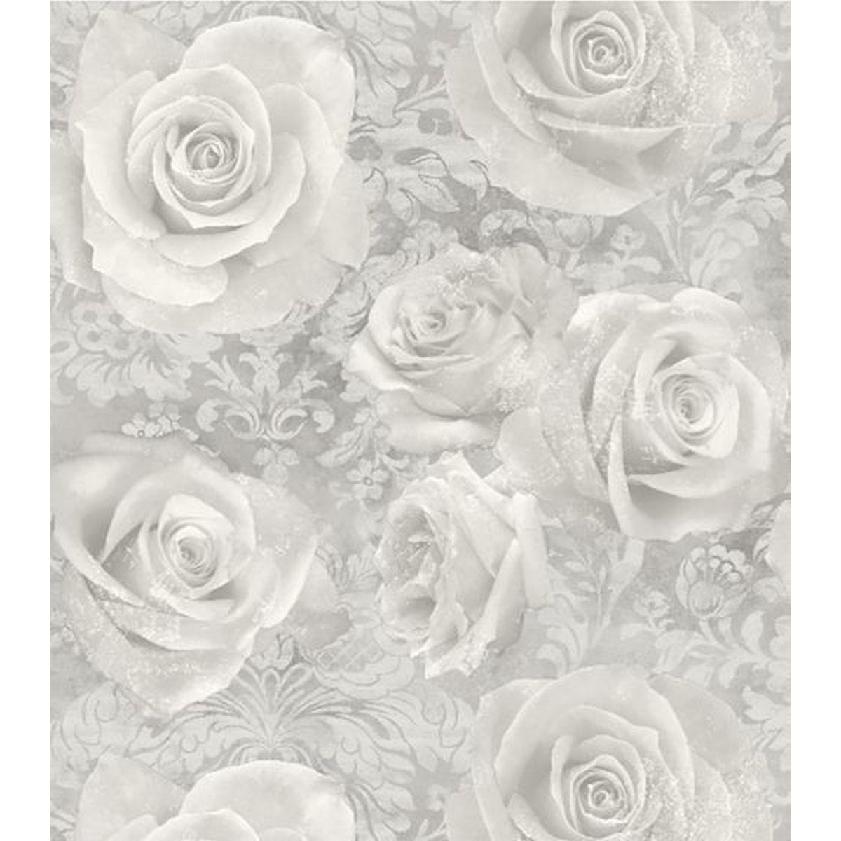 Best of Arthouse Vliestapete Qualitätsvolle Tapete 623303 Grau Blumentapete