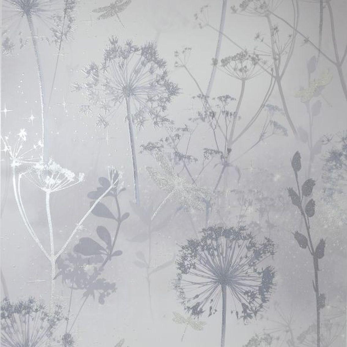 Best of Arthouse Vliestapete Erstklassige Tapete 692406 Grau Blumentapete