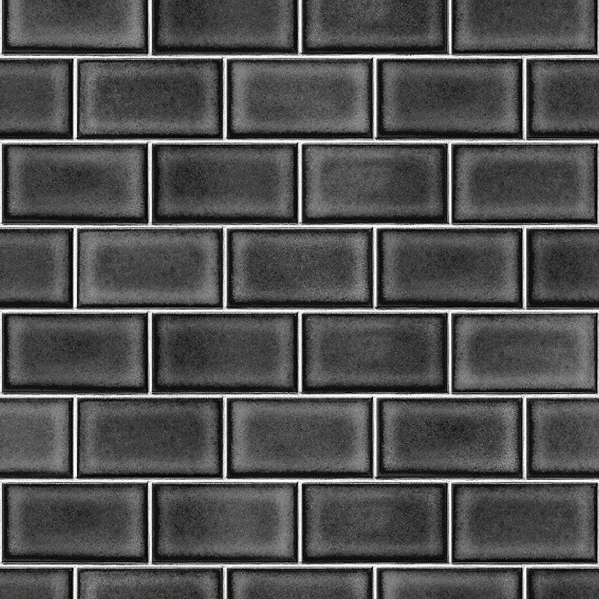 DesignID Vliestapete Erstklassige Vliestapete BA220108 Schwarz Steintapete