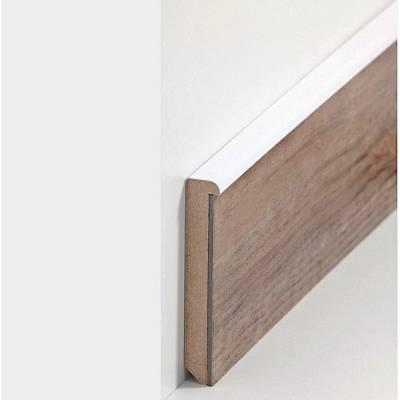 """Design Fußleiste für Vinylboden """"Augsburg"""" - weiß (MDF foliert - 726.7631)"""