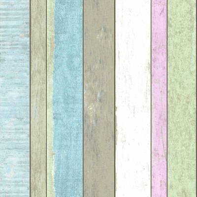 Rasch Textil Vintage Rules | 138249 | Vliestapete Streifen | 0.53 m x 10.05 m | Bunt