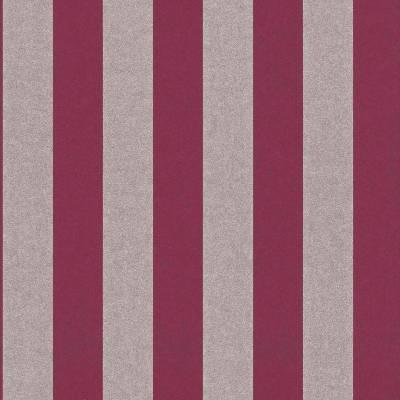 Rasch Textil Comtesse   225449   Vliestapete Streifen   0.53 m x 10.05 m   Rot