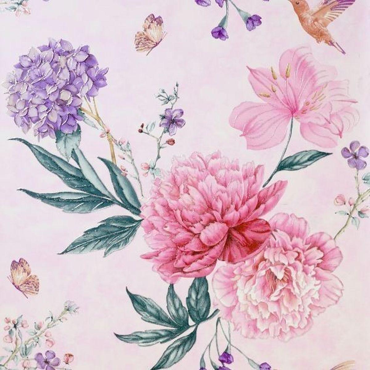 Best of Arthouse Vliestapete Hochwertige Tapete 692804 Rosa Blumentapete