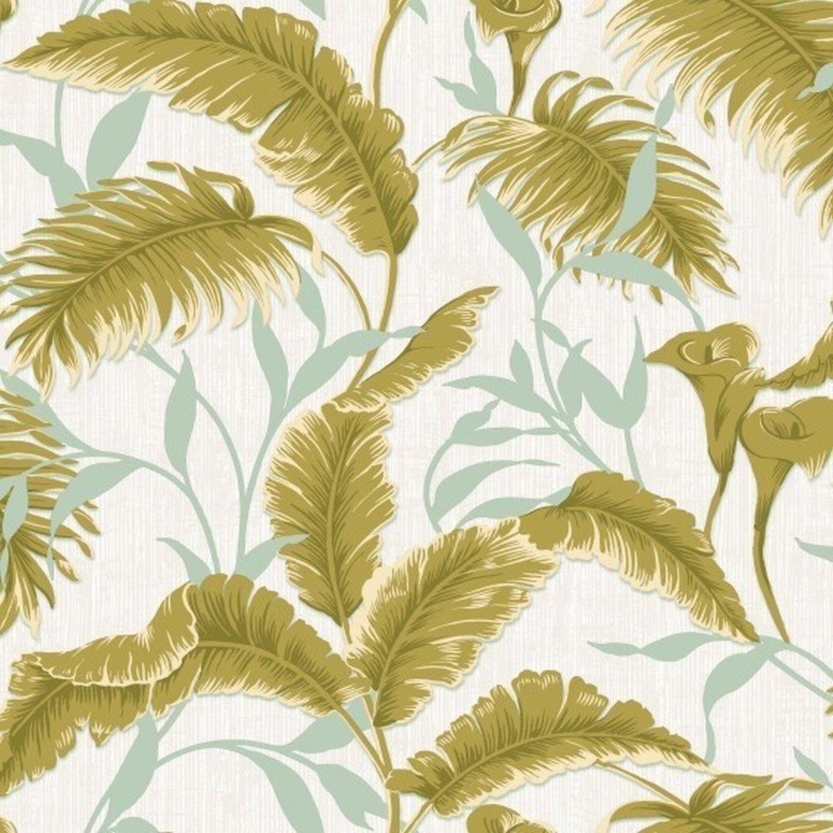 DesignID Vliestapete Luxuriöse Tapete VD219176 Grün Blumentapete