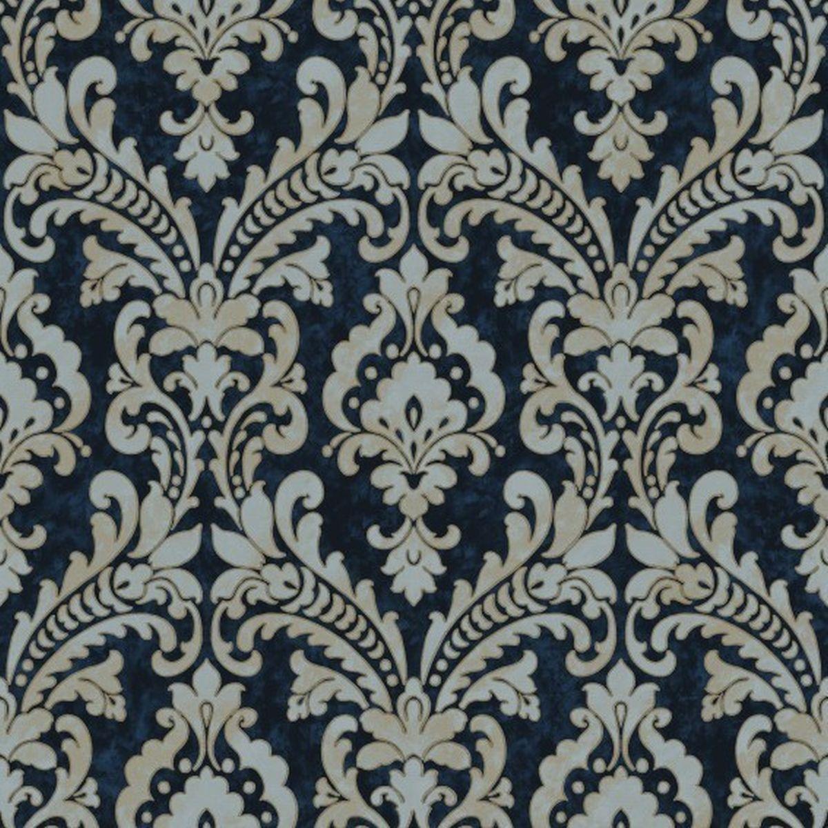 DesignID Vliestapete Erstklassige Designs VD219175 Blau Barock Tapete