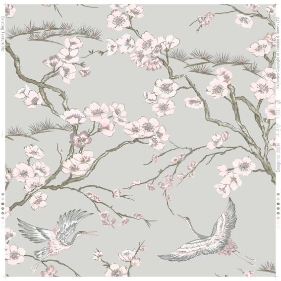 Vliestapete von Graham and Brown 'Kabuki' 105985  Blumen