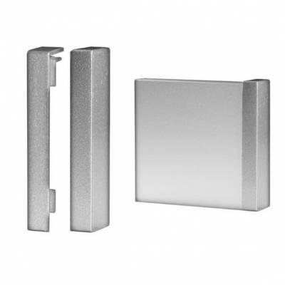 Klick Endstück für Fußleisten / Sockelleisten 6 x 15 (Aluminium silber eloxiert)