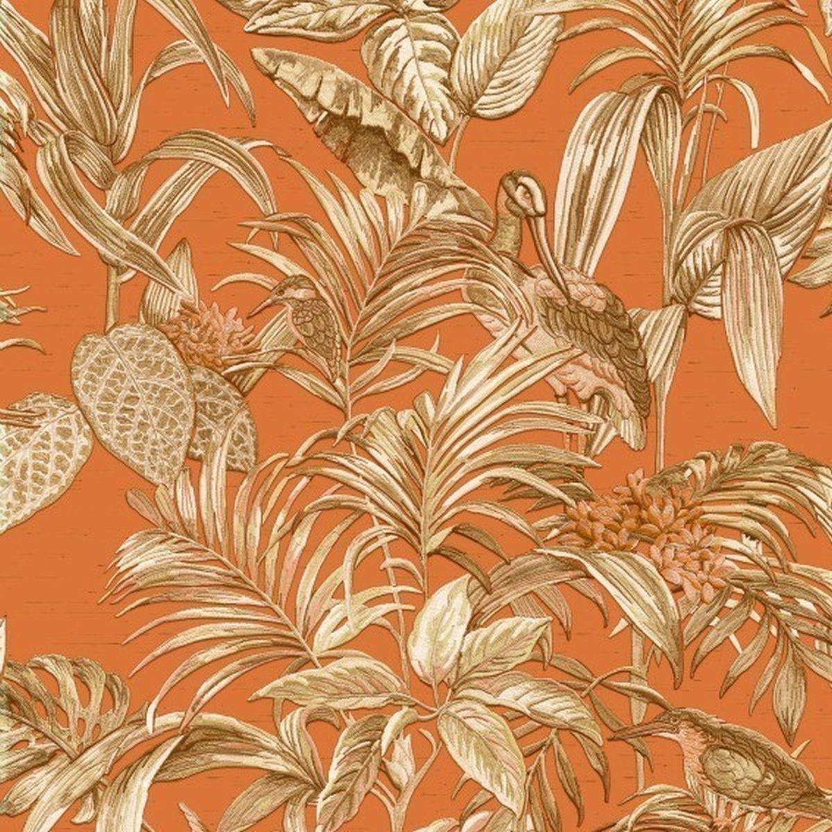 DesignID Vliestapete Ausgesuchte Designs DE120019 Orange Blumentapete