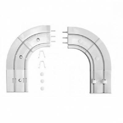 Endstückbögen für zweischienige Gardinenschiene / Vorhangschiene