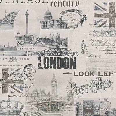 A.S. Creation Einzelblatt | 952052 | Papiertapete Vintage | 0.53 m x 10.05 m | Beige