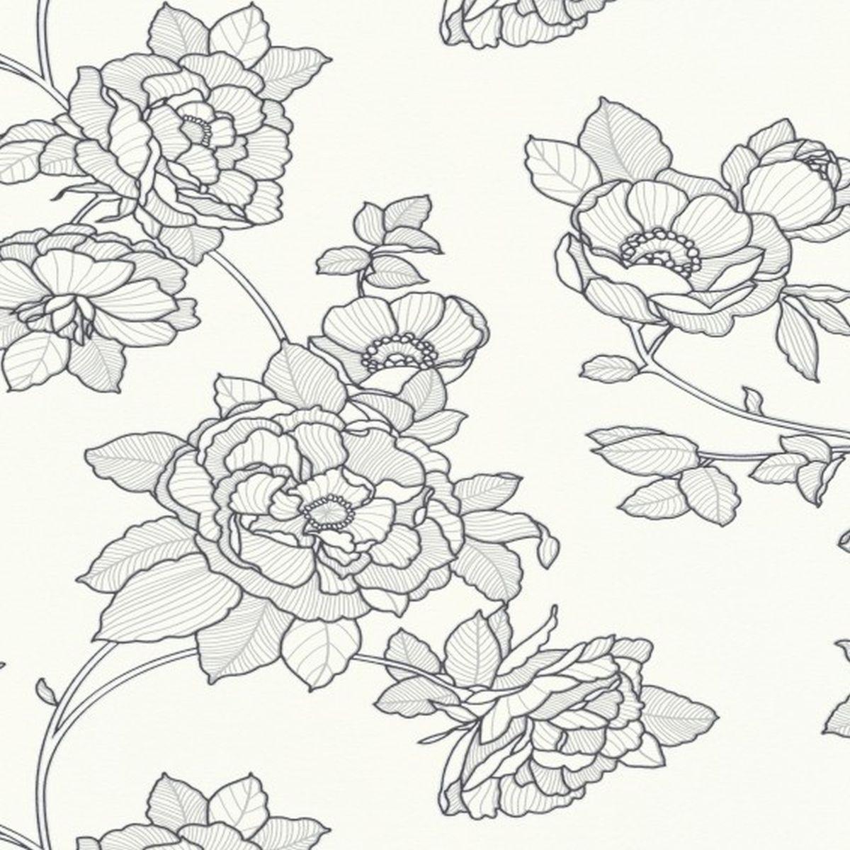 Erismann Vliestapete Kollektion Black & White 540310 Blumen
