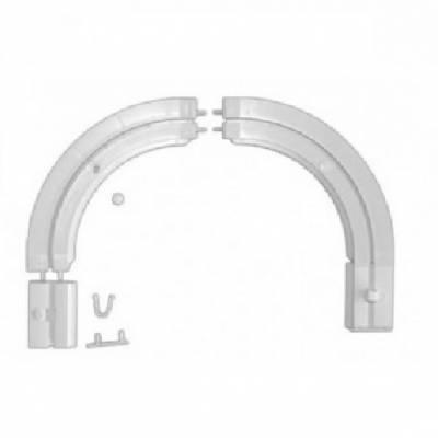 Endstückbögen für einschienige Gardinenschiene / Vorhangschiene