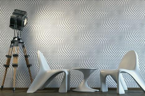 3D Mustertapete schwarz weiß