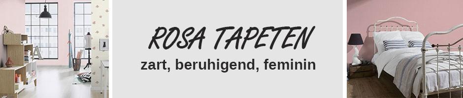 Rosa Tapeten wirken zart, beruhigend und feminin