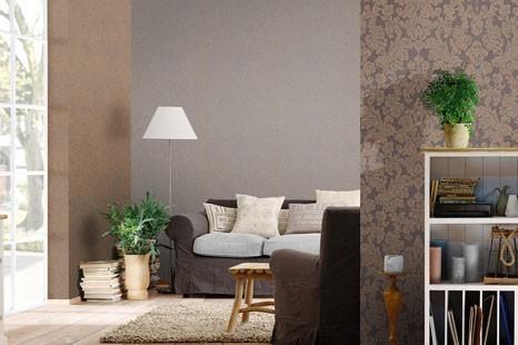 Braune Tapeten gemütlich und modern