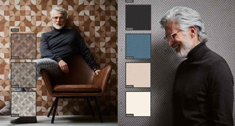 Moderne Tapeten im skandinavischen Stil