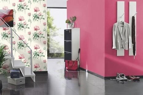 moderne rosa tapeten uni farben
