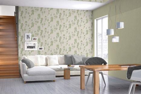Grüne Tapeten mit natürlicher Wirkung