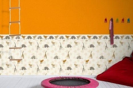 Kinderzimmertapete orange, Orange Tapete fürs Kinderzimmer