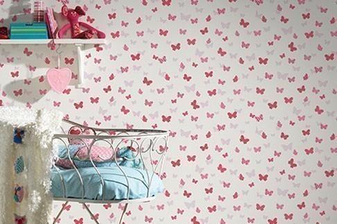 Schmetterlingstapete, Kinderzimmertapete, Kindertapete