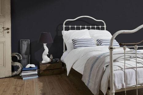 tapete schlafzimmer schwarz, schwarze Schlafzimmertapete